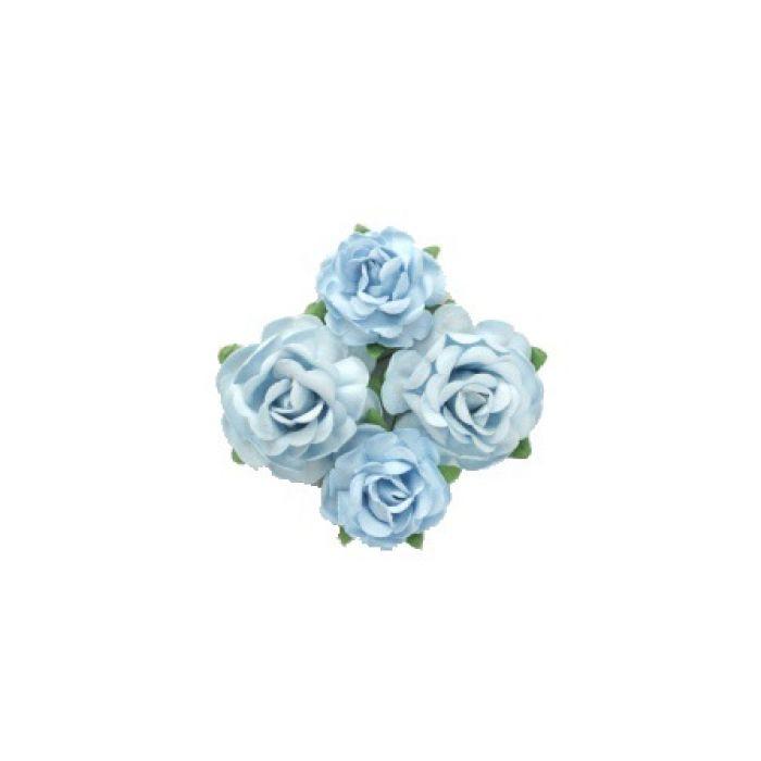 Цветы чайной розы голубые для скрапбукинга