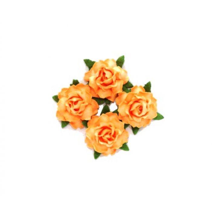 Цветы кудрявой розы нежно-оранжевые для скрапбукинга