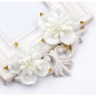 Цветы свадебные молочные