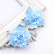 Цветы свадебные небесно-голубые