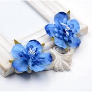 Цветы свадебные синие