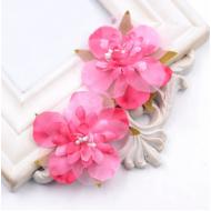 Цветы свадебные ярко-розовые