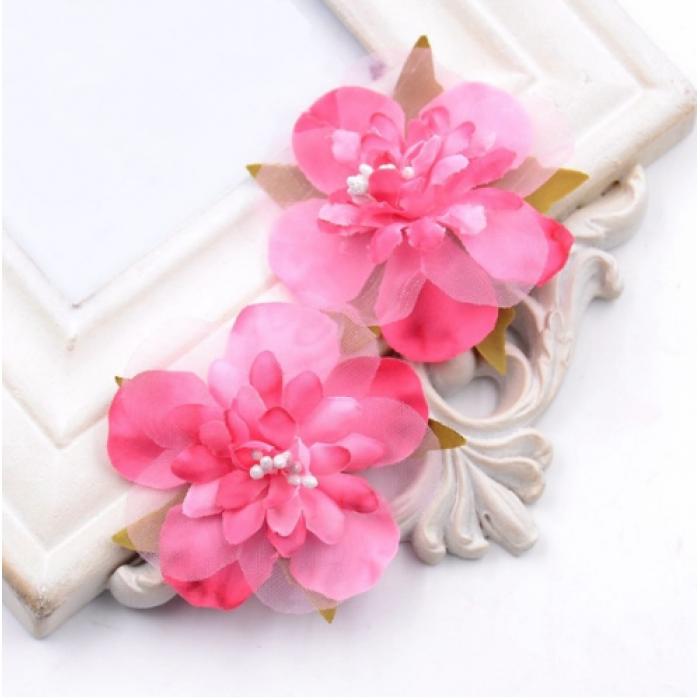 Цветы свадебные ярко-розовые для скрапбукинга