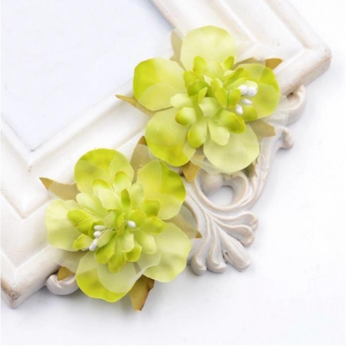 Цветы свадебные зелёные для скрапбукинга