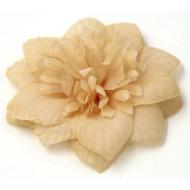 Цветы тканевые бежевые