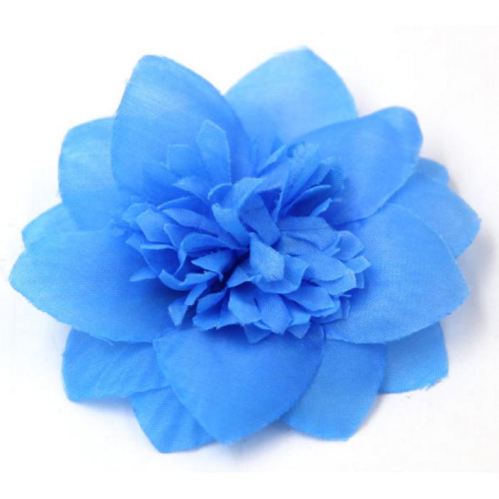 Цветы тканевые голубые для скрапбукинга