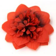 Цветы тканевые красные