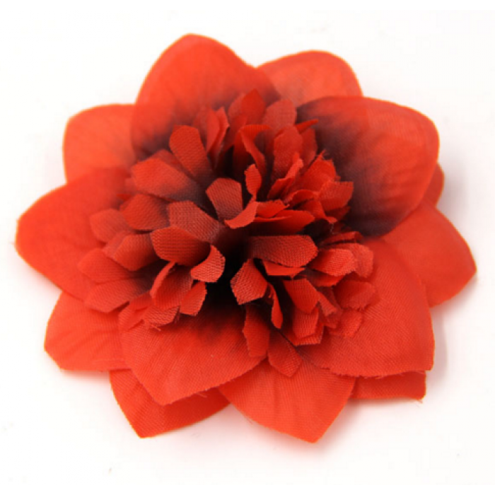 Цветы тканевые красные для скрапбукинга