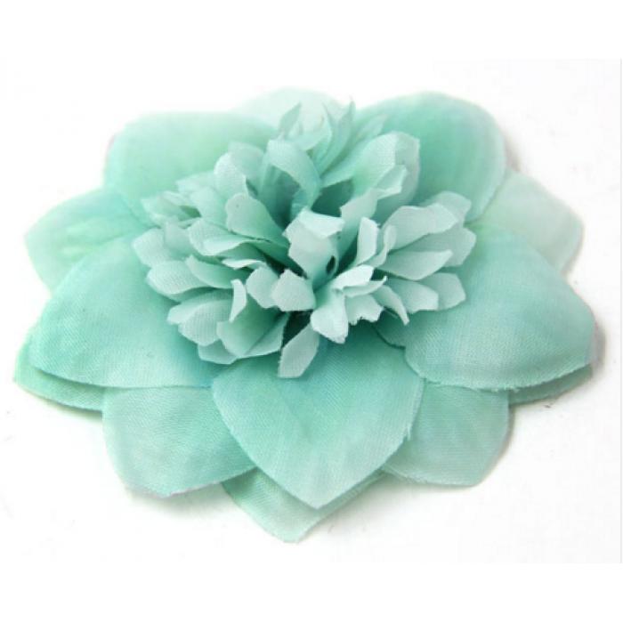 Цветы тканевые мятные для скрапбукинга