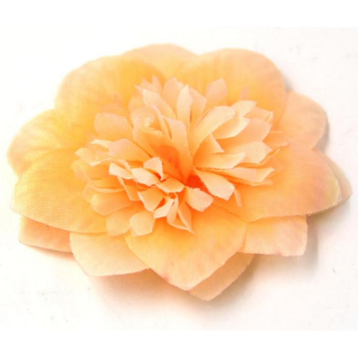 Цветы тканевые оранжевые для скрапбукинга