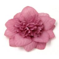 Цветы тканевые пурпурные