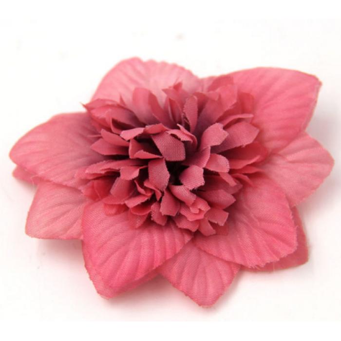 Цветы тканевые розовые для скрапбукинга