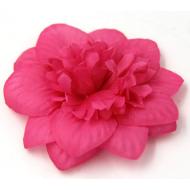 Цветы тканевые ярко-розовые