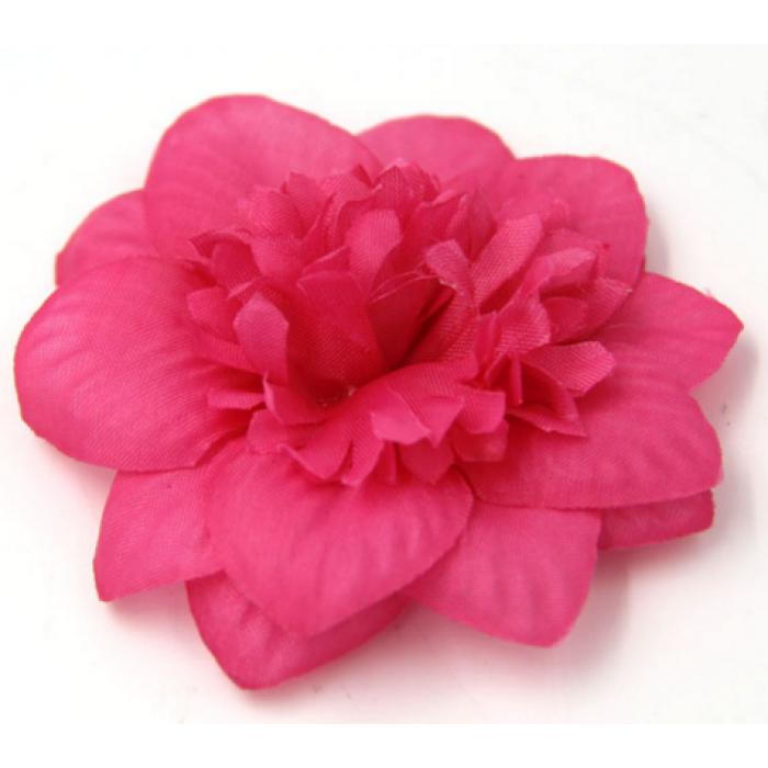 Цветы тканевые ярко-розовые для скрапбукинга