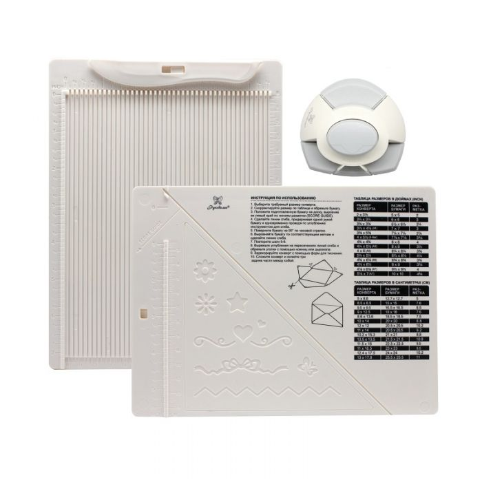 Доска для создания конвертов и открыток с угловым дыроколом для скрапбукинга
