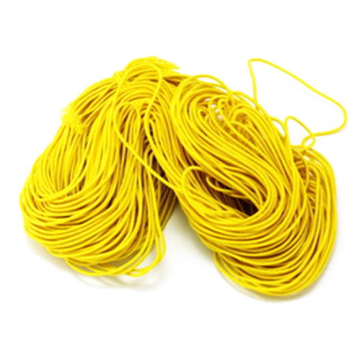 Эластичная резинка жёлтая 1 мм для скрапбукинга