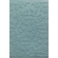 Еловые ветви, тисненый картон голубой