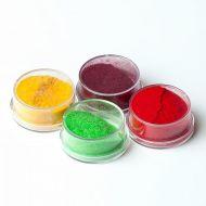 Флоковая пудра бордовый, красный, светло-оранжевый, зеленый