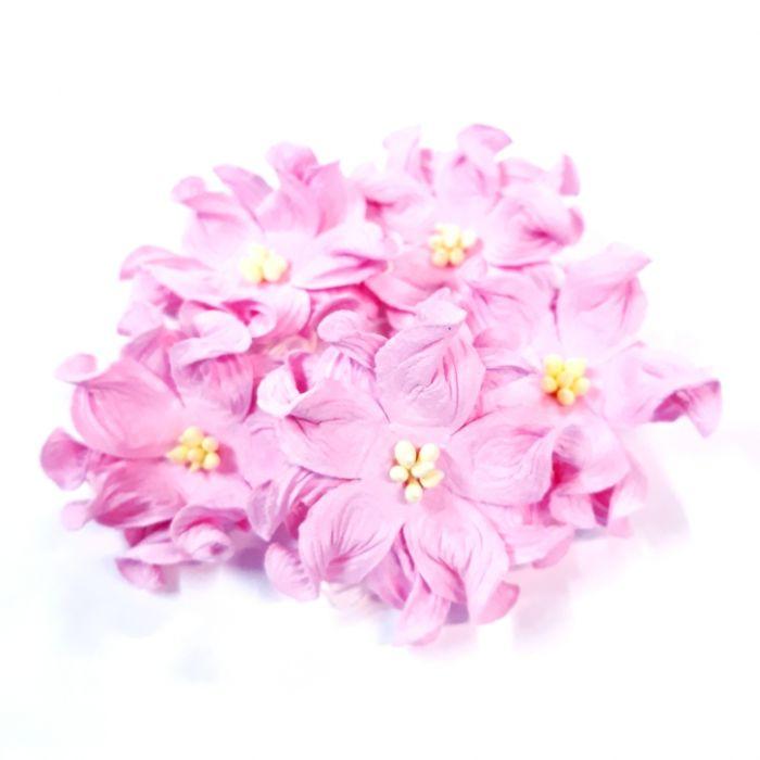 Гардении розовые 4 см для скрапбукинга