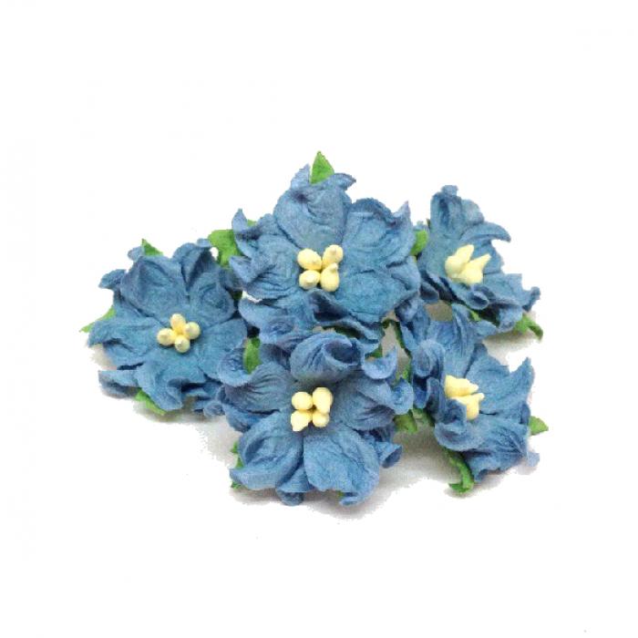 Гардении серо-голубые 2,2 см для скрапбукинга