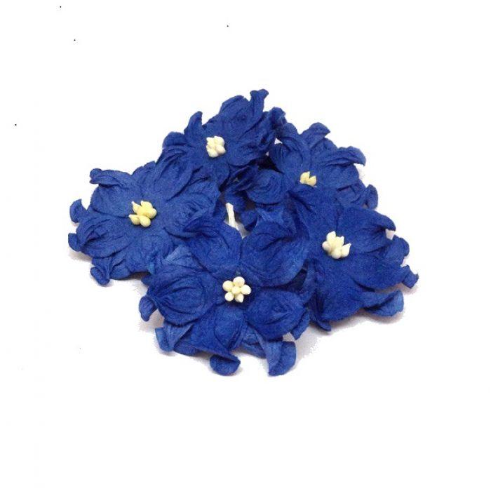 Гардении синие 4 см для скрапбукинга