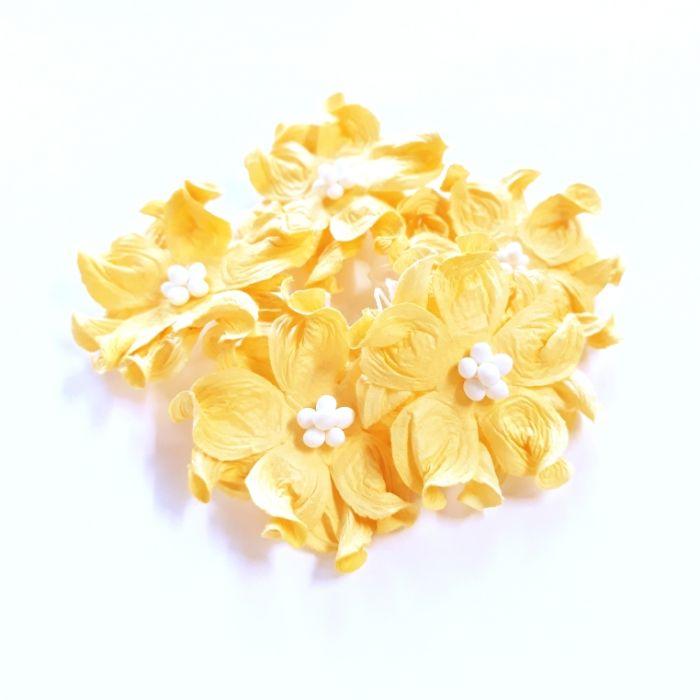 Гардении желтые 4 см для скрапбукинга