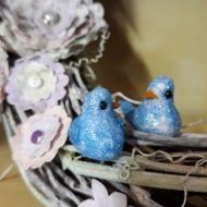 Голубки голубые 40 мм
