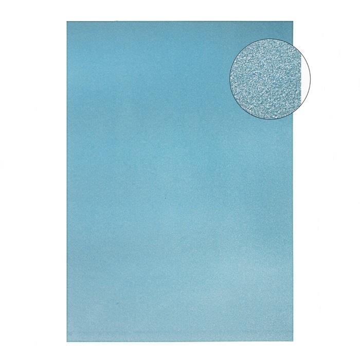 Голубой жемчужный картон А4 для скрапбукинга