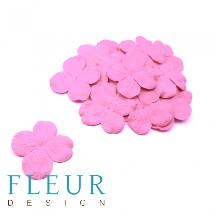 Гортензия ярко-розовая 5 см для скрапбукинга