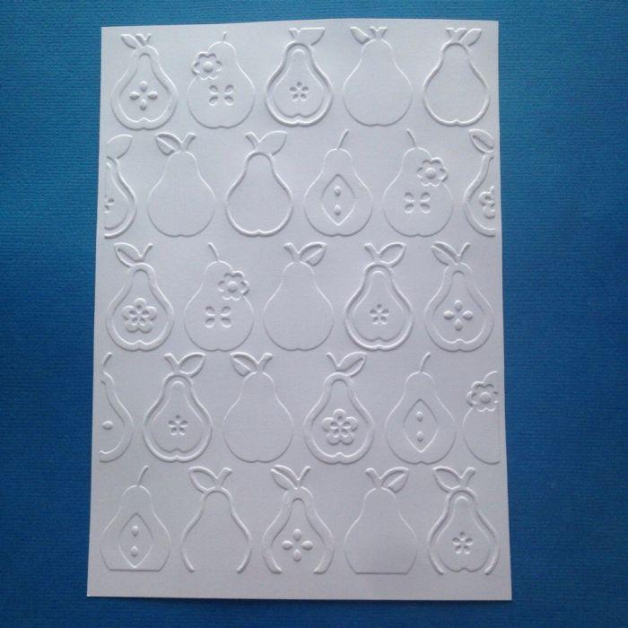Груши, тисненый картон для скрапбукинга