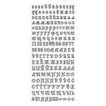 Контурные наклейки русский алфавит 2, цвет зеленый