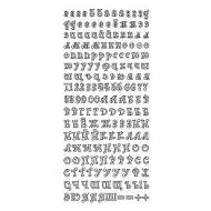 Контурные наклейки русский алфавит 2, цвет мятный
