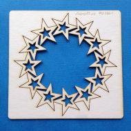 Круглая рамка со звездами большая