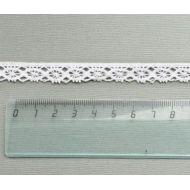 Кружево хлопчатобумажное белое 11 мм