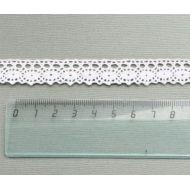 Кружево хлопчатобумажное белое 15 мм