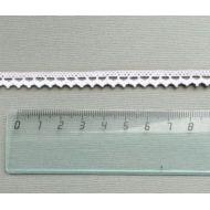 Кружево хлопчатобумажное белое 8 мм