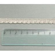 Кружево хлопчатобумажное бежевое 10 мм