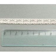 Кружево хлопчатобумажное бежевое 11 мм