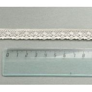 Кружево хлопчатобумажное бежевое 13 мм