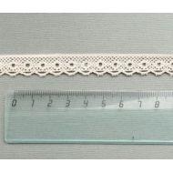 Кружево хлопчатобумажное бежевое 15 мм