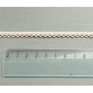 Кружево хлопчатобумажное бежевое 7 мм
