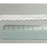 Кружево хлопчатобумажное молочное 12 мм