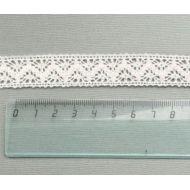 Кружево хлопчатобумажное молочное 18 мм