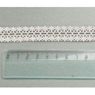 Кружево хлопчатобумажное молочное 19 мм