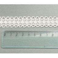 Кружево хлопчатобумажное молочное 24 мм
