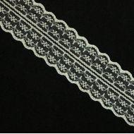 Кружево капроновое кремовое 45 мм