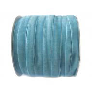 Лента бархатная голубая 1см