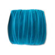 Лента бархатная ярко-голубая 1см