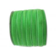 Лента бархатная ярко-зеленая 1см