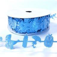 Лента голубая детские вещи 23 мм